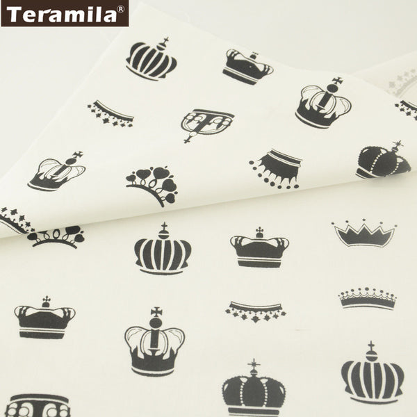 Crown Cotton Cotton Twill Fabric Teramila Home Textile for Sewing Bedding Quilting Clothing Craft