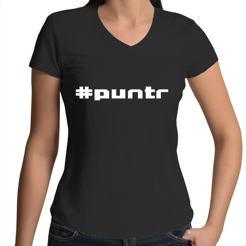 #puntr - Womens V-Neck T-Shirt
