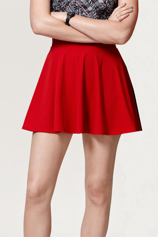 'Red Manhattan 'Skater Skirt