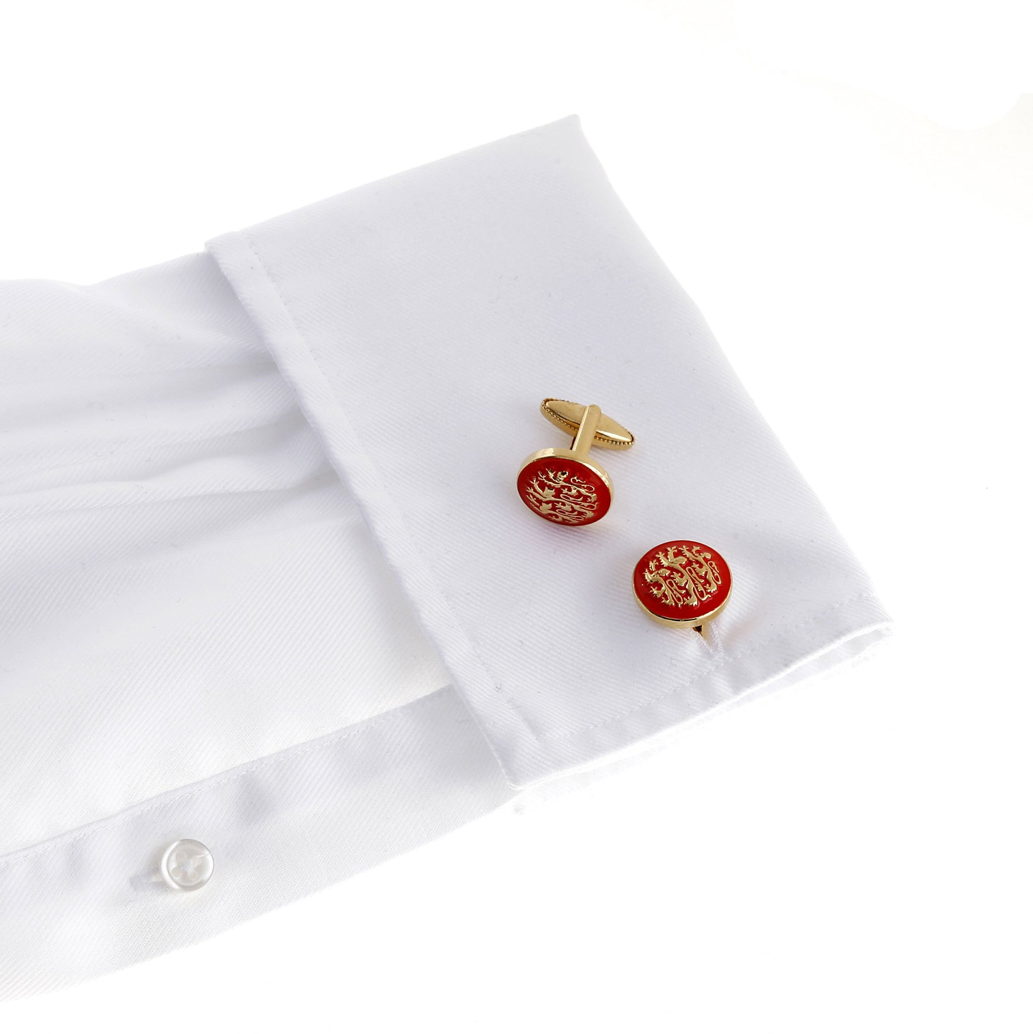 Three English Lions Cufflink - Wimbledon Cufflink Company