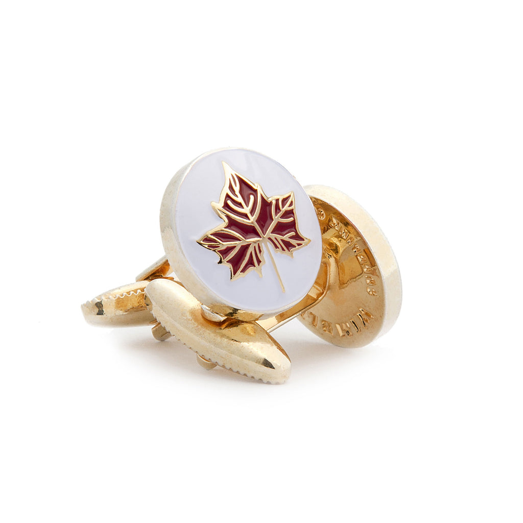 The Maple Leaf Cufflink