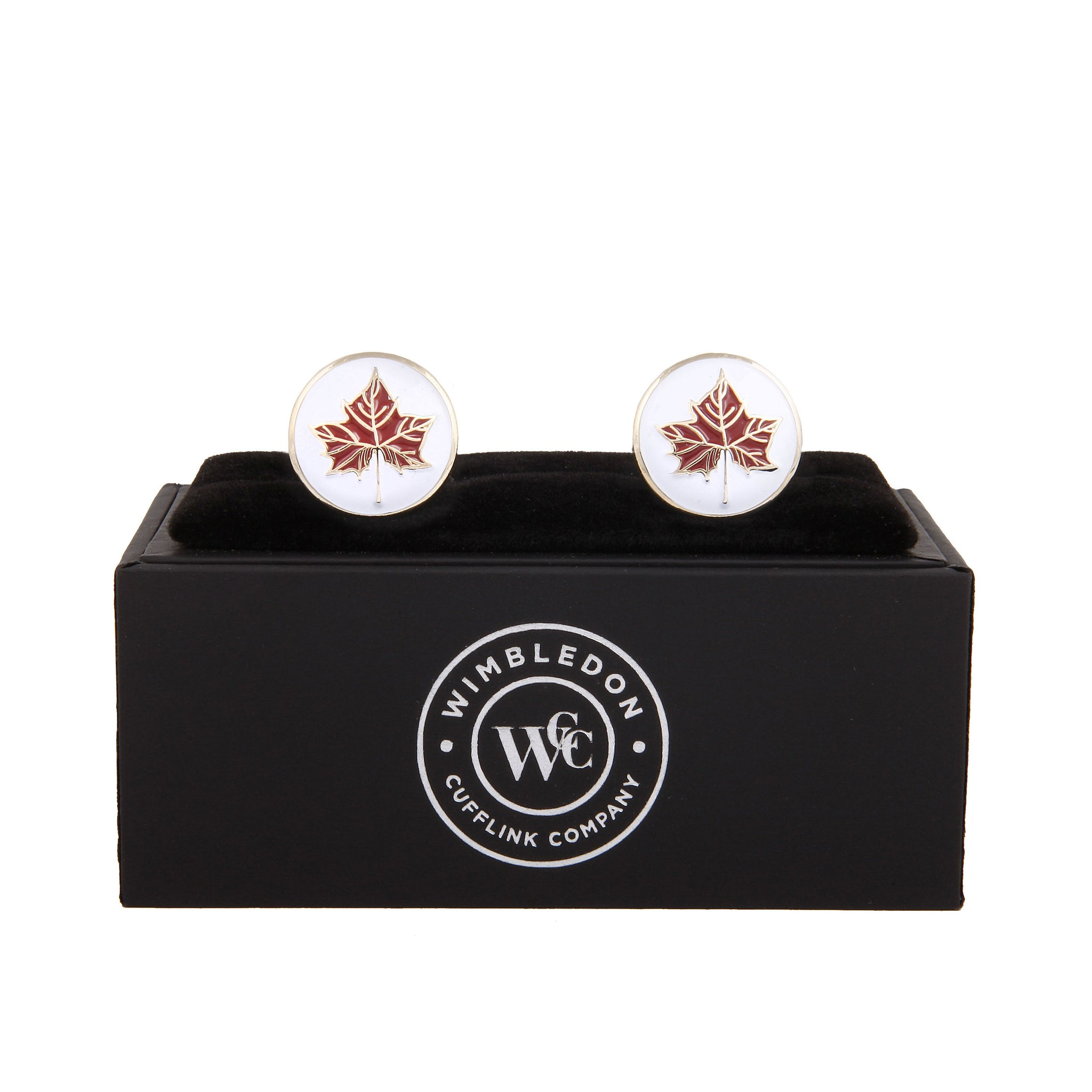 The Maple Leaf Cufflink - Wimbledon Cufflink Company