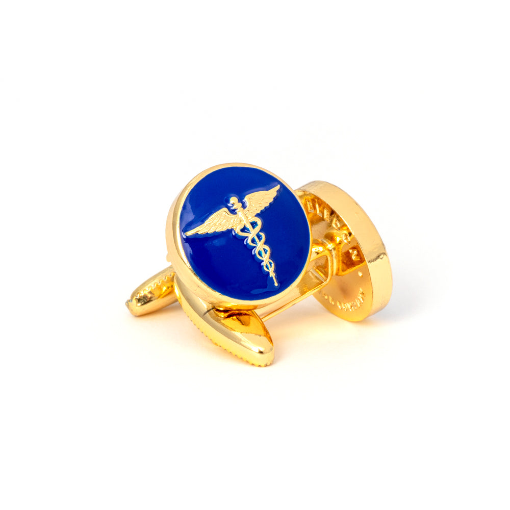 The Rod of Caduceus Cufflink - Wimbledon Cufflink Company