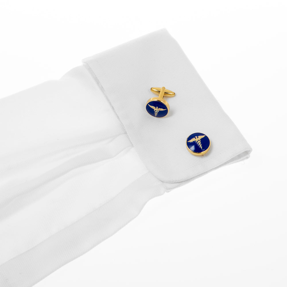 The Rod of Aesculapius Cufflink