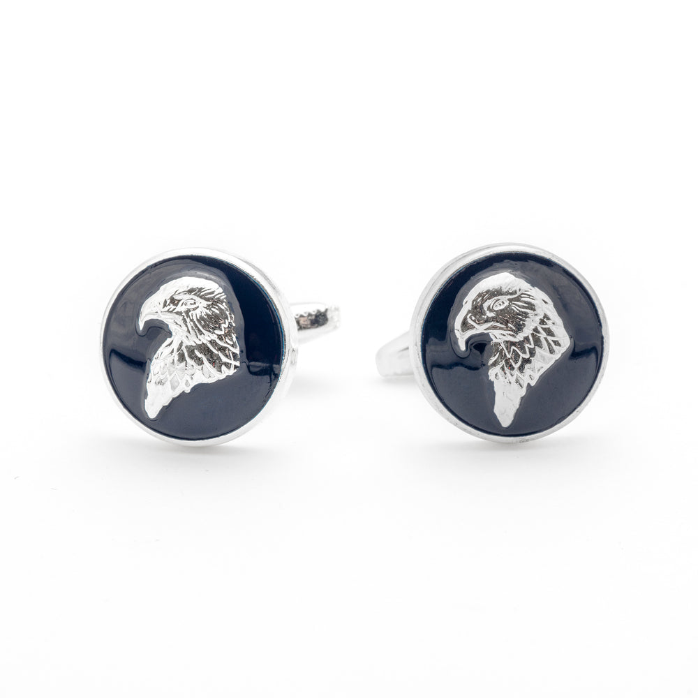 The Bald Eagle's Head Cufflink - Wimbledon Cufflink Company