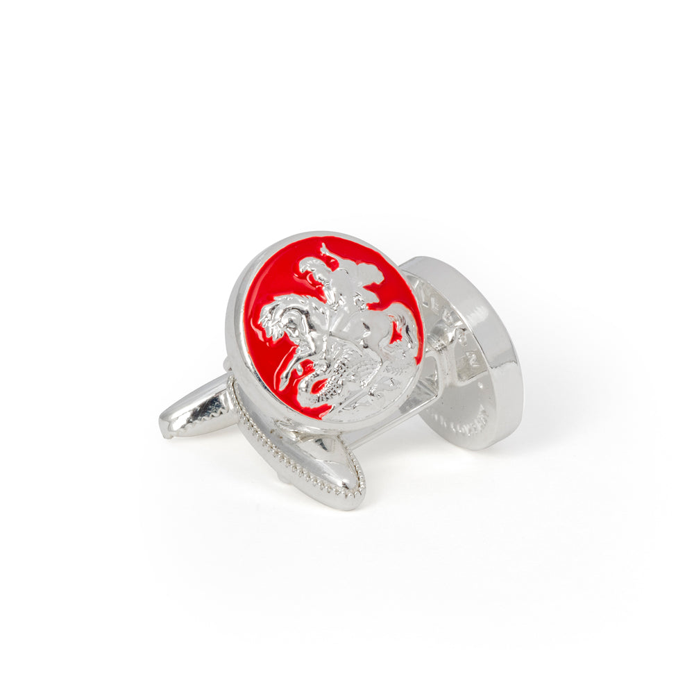 St George and the Dragon Cufflink - Wimbledon Cufflink Company