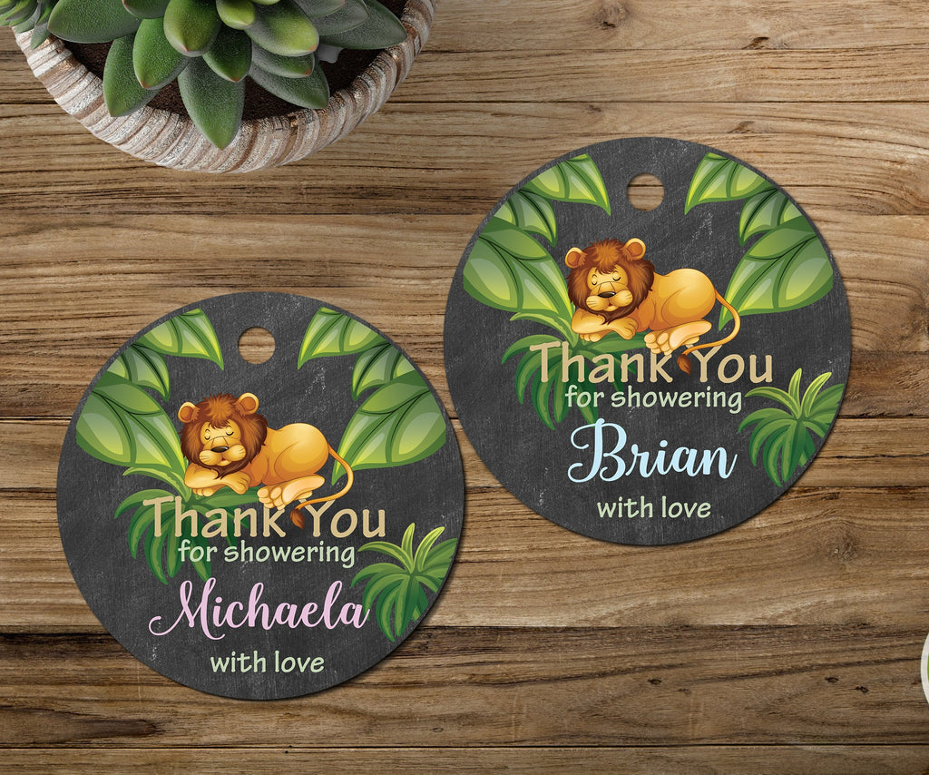 Jungle Safari Baby Shower Tags