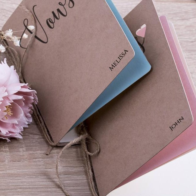 Personalized Vows Booklet