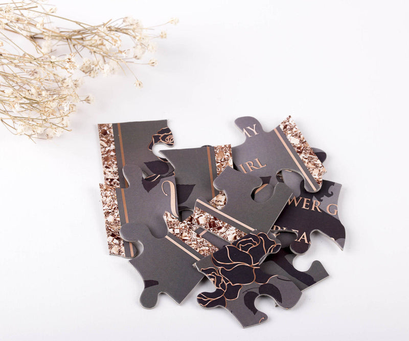 Rose Gold Flower Girl Puzzle