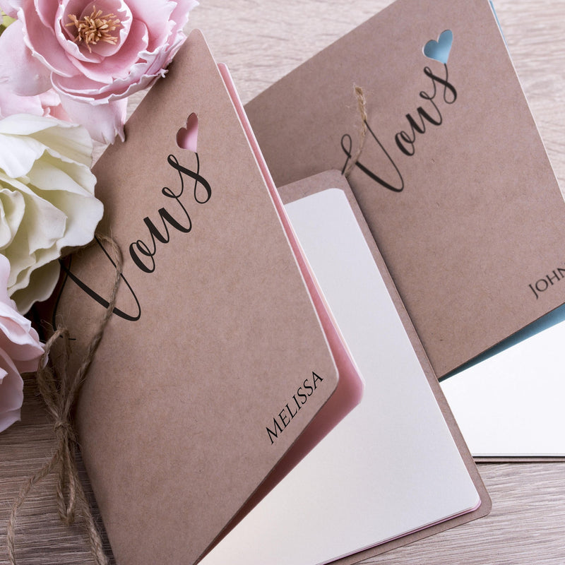 Custom Vows Booklet