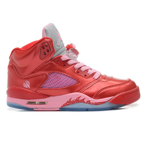 Air Jordan 5 Valentines Day (Gym Red/Ion Pink) Women