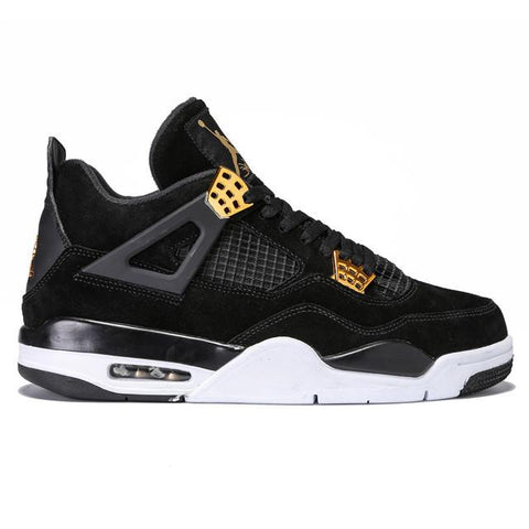 Authentic Air Jordan 4 Black Suede Men