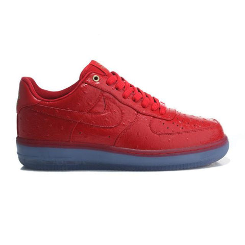 Air Force 1 With Ostrich Leather Uppers University Red