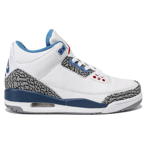 Air Jordan 3 Retro True Blue Nike On The Heel Men