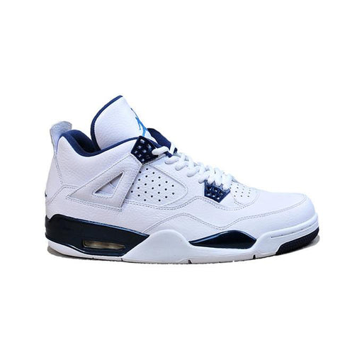 Air Jordan 4 White Columbia Blue Midnight Navy