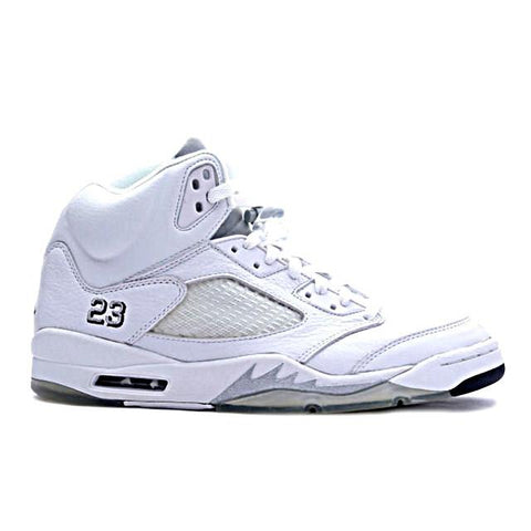 Air Jordan 5 White Metallic Silver Black