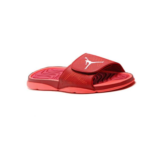 fcbf1a4ee Air Jordan Slippers Bright Red White Men – Sneaker-CEO