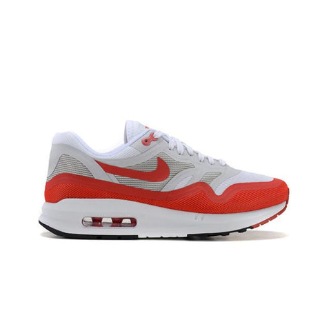 Authentic Nike Air Max Lunar 87 Shoes White Gray Red Hot Deals Wear Resistant