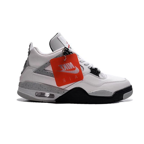 Autheintic Air Jordan 4 OG 89 White Cement(Nike on the heel)