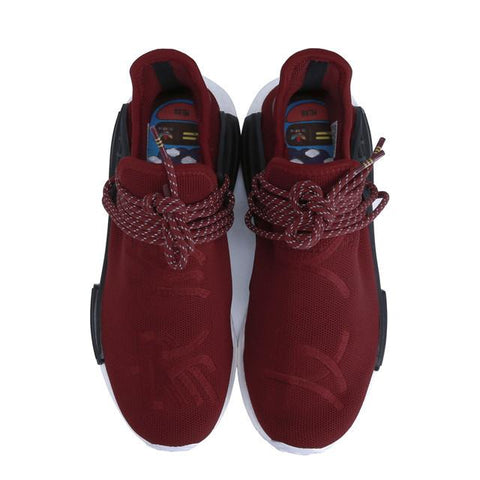 lowest price cf7a6 20d54 maroon human race nmd