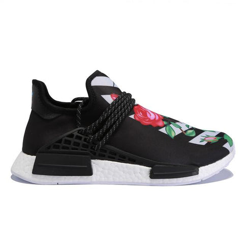 Authentic Adidas NMD Human Race Black White Flower Men