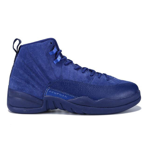 Authentic Air Jordan 12 Deep Royal Blue Suede Men