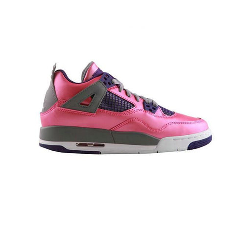 Authentic Air Jordan 4 Retro GS Pink Purple Grey