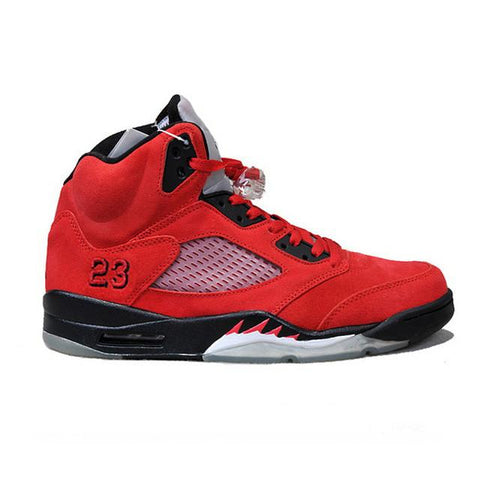 Authentic Air Jordan 5 Raging Bull Red Suede