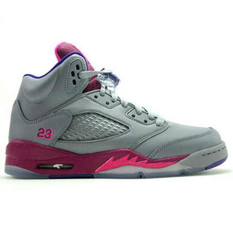 Authentic Air Jordan 5 Retro Women Raspberry Red