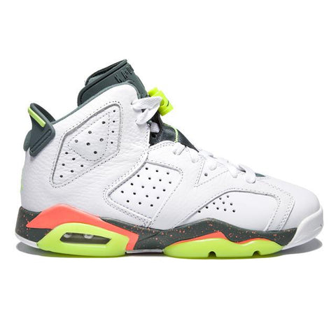 Authentic Air Jordan 6 White Bright Mango Ghost Green GS