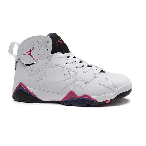 Authentic Air Jordan 7 GS White Purple Pink Women