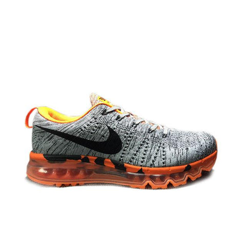 save off 4e51c 66fb7 Authentic Nike Flyknit Air Max 747361-008 Wolf Grey-Black-Total Orange