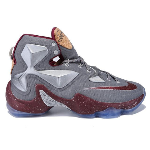 Authentic Nike Lebron XIII Cool Grey Wolf Grey Deep Garnet Men