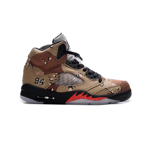 Authentic Supreme x Air Jordan 5 Camo