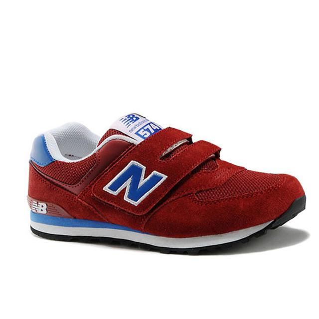 buy online 88357 f45c8 free shipping fashion new balance 574 wine red blue kids shoes 481fe 54099