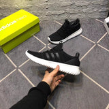 Adidas Neo Youths Cloud Foam Ultimate Trainers Black with Black Stripe