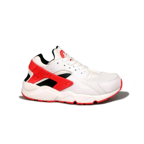 Nike Air Huarache White Black Red Women