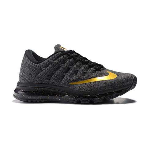Nike Air Max 2016 Running Shoes Black Gold Men