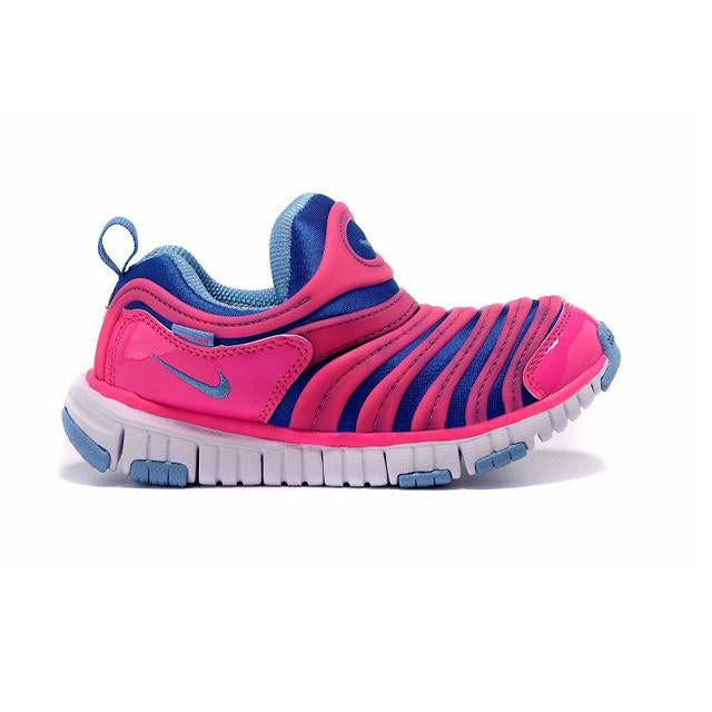 best website 741df cdd33 Nike Dynamo Free PS Kids Pink Blue Running Shoes