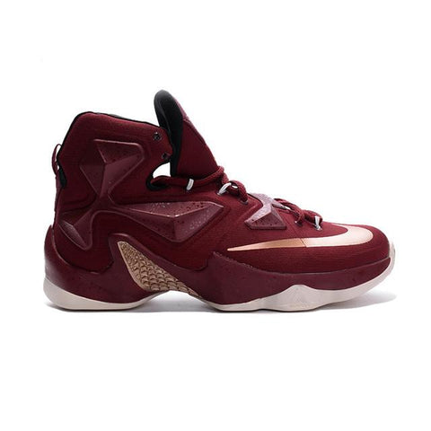 Nike LeBron 13 Wine Red Gold Men