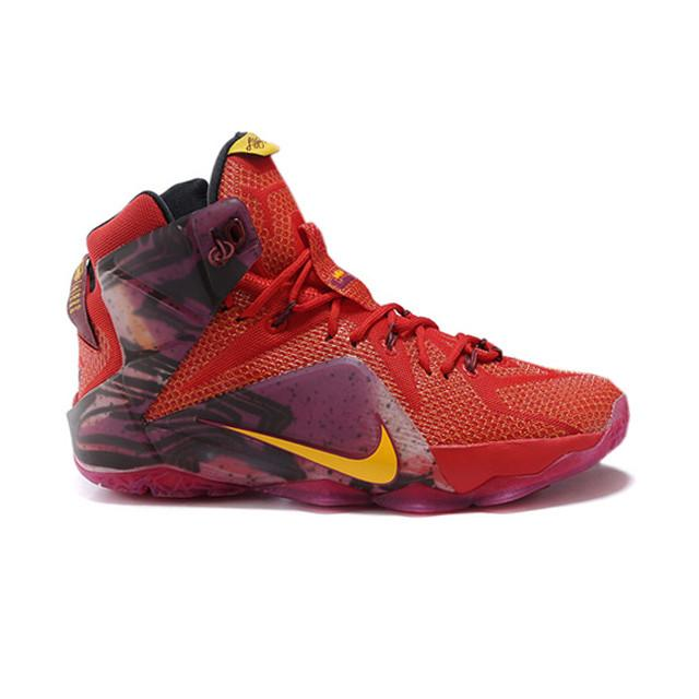 d2262c03bf8b ... new zealand nike lebron 12 elite purple red yellow 865a5 54bcd