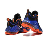 Nike Lebron 12 Low PRM Black Blue Orange Shoes