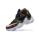 Nike Lebron 13 White Black Green Orange