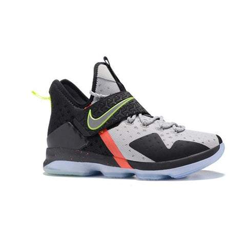 Nike Lebron 14 Grey Black Orange Green Men