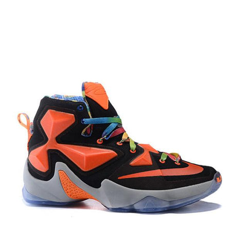 Nike Lebron James 13 Custom Black Orange Gray