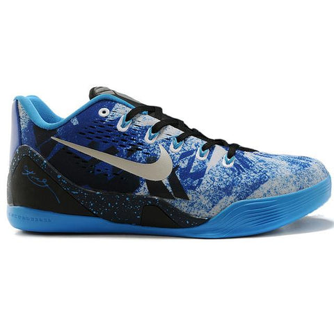 Nike New Shoes Zoom Kobe 9 Low Blue Black Silver