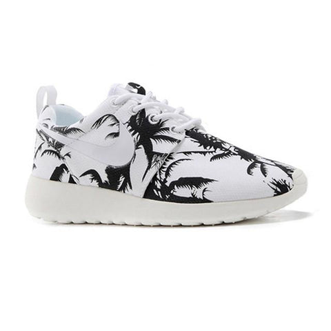 Nike Roshe Run Print Women Black White