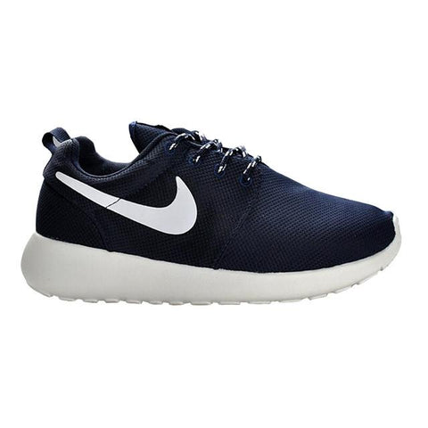 Nike Roshe Run Trainers Deep Blue White Women Shoes