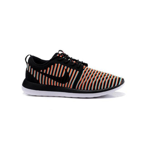 Nike Roshe Two Flyknit Black Bright Crimson Clear Jade Black Men
