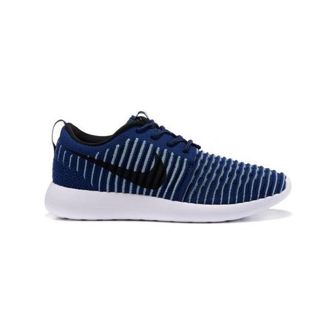 Nike Roshe Two Flyknit College Navy White Squadron Blue Black Men